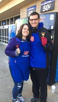 Siearra Nagle and Stefan Thalacker volunteered as bell ringers for the Salvation Army.