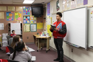 Members of 99th Squadron read to students
