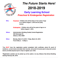 Preschool/ Kindergarten Registration