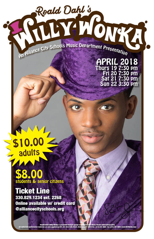 Willy Wonka to be performed as Spring Musical at Alliance High School