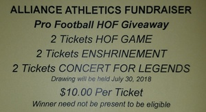 Hall of Fame Raffle Tickets Available Now