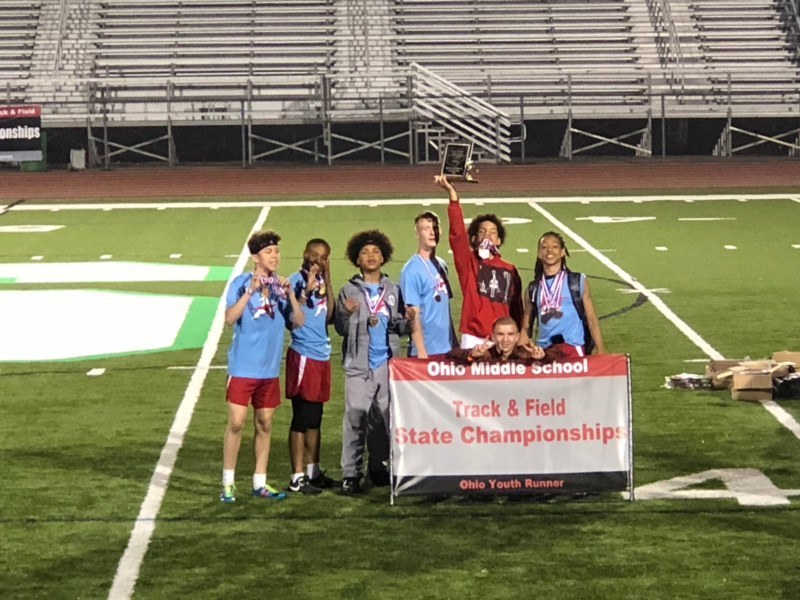 AMS TRACKSTERS EXCEL AT STATE; BOYS' TEAM & GAGE FORD WIN STATE TITLES
