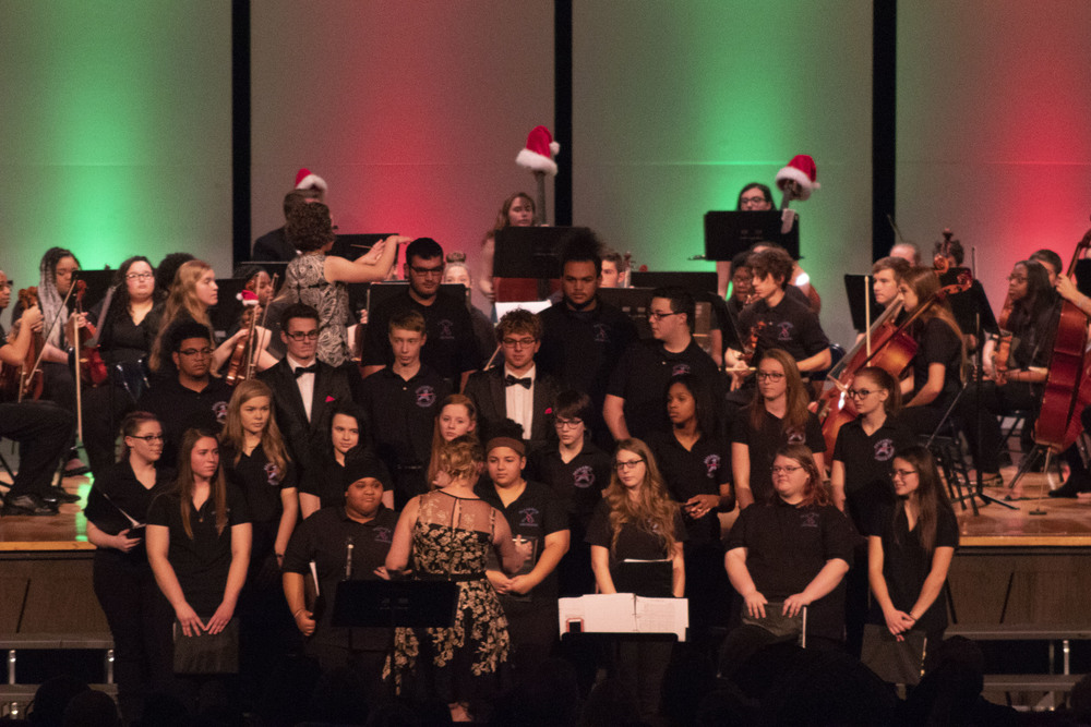 Snow Flies During AHS Winter Concert