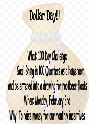 Dollar Days Information for February 3rd