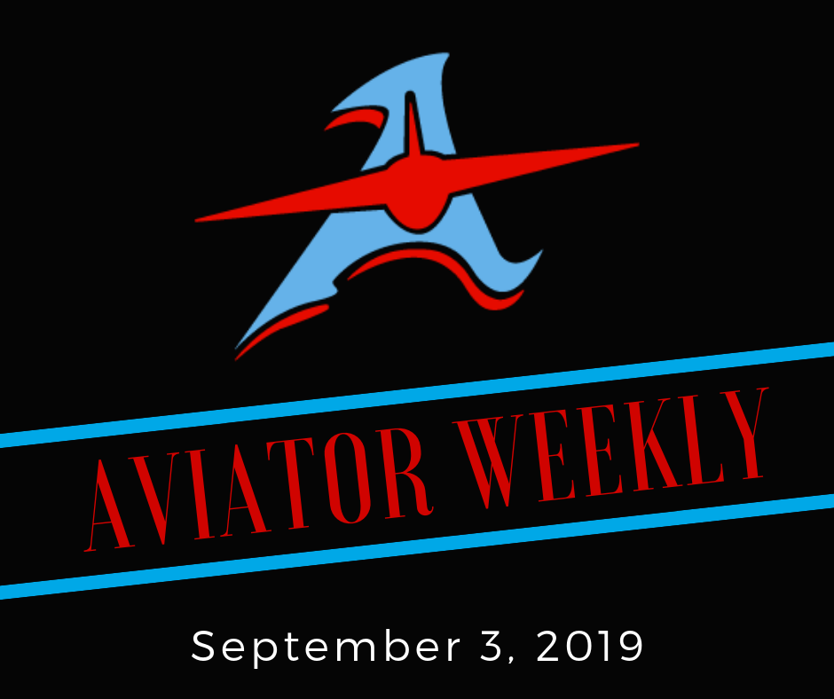 ​Aviator Weekly - Sept. 3