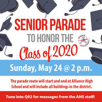 AHS to Hold Parade to Honor Class of 2020