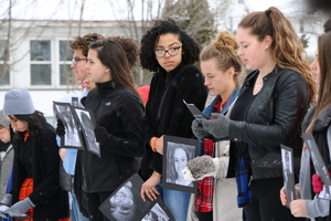 Students participate in National Walkout Day