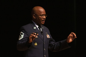 Johnson Speaks at AHS Veteran's Day Assembly