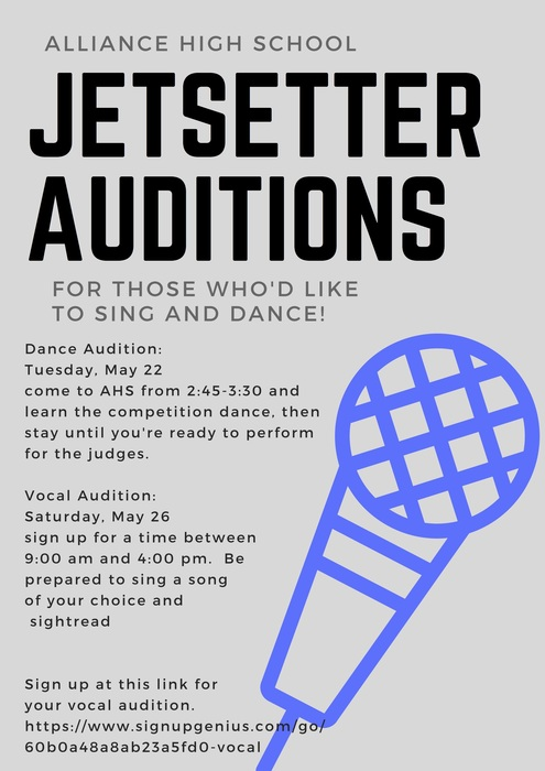Jetsetter auditions