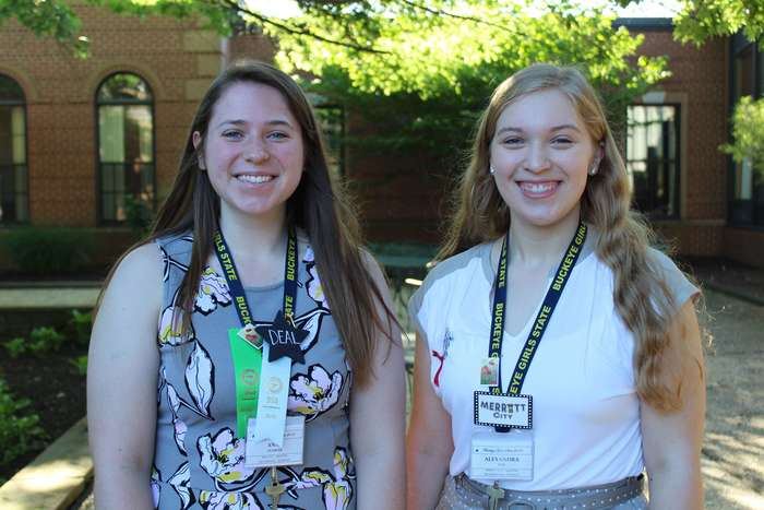 Anna Zumbar and Alexandra Cox at Buckeye Girls State 2018