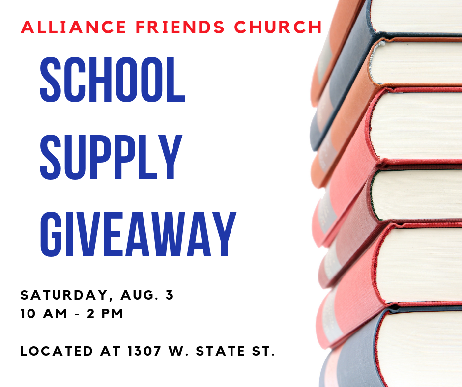 school supply giveaway