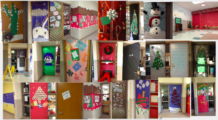 Doors decorated