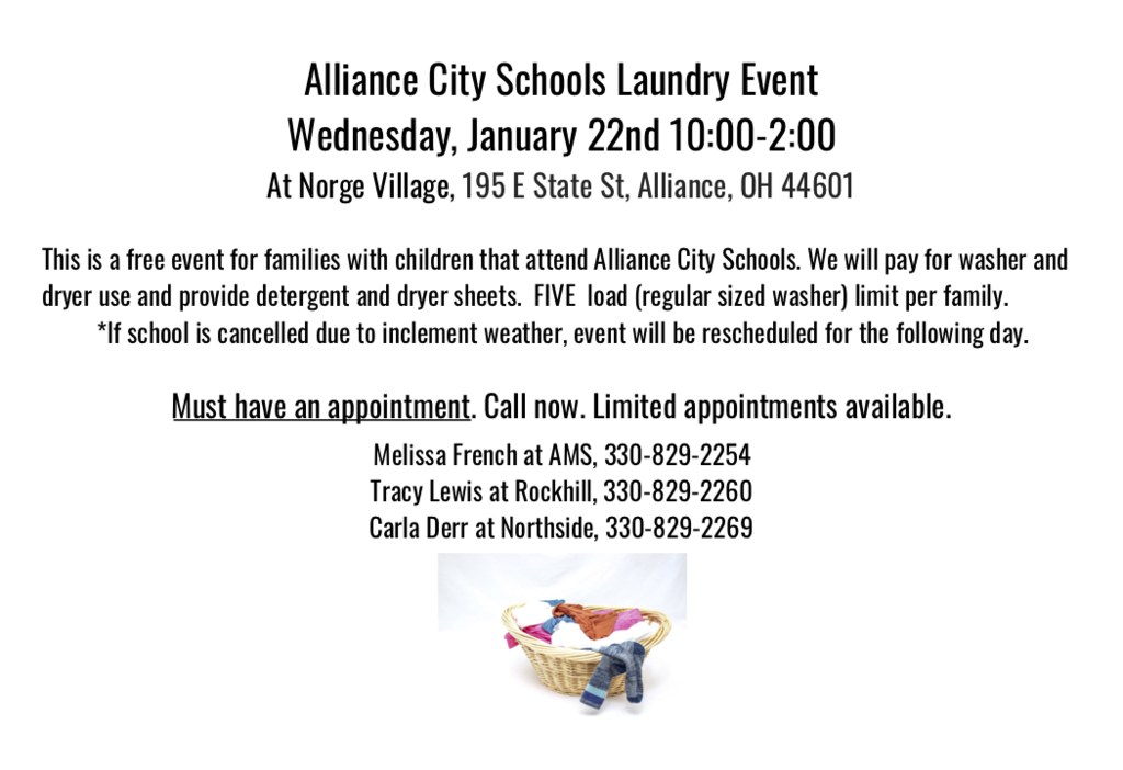 free laundry event