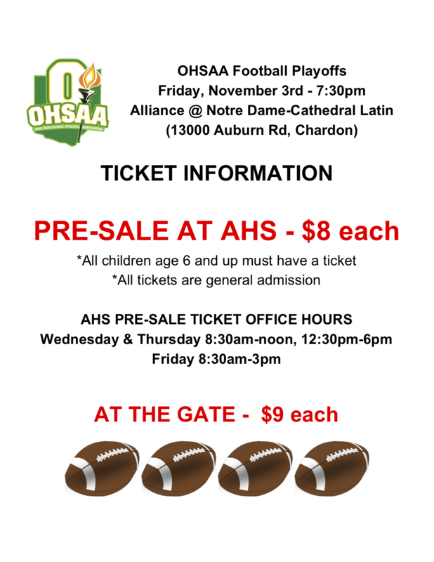 OHSAA Football Playoffs!